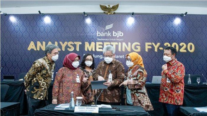 Analyst Meeting FY-2020 di Kantor Pusat bank bjb Jalan Naripan, Senin (15/3/2021)