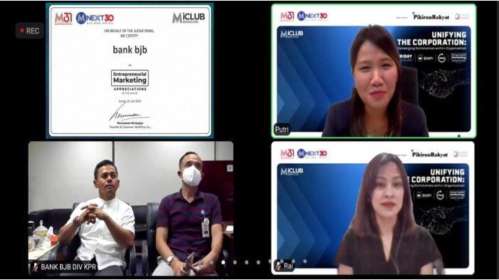 KPR Gaul bank bjb Mendapat Penghargaan dari MarkPlus Inc