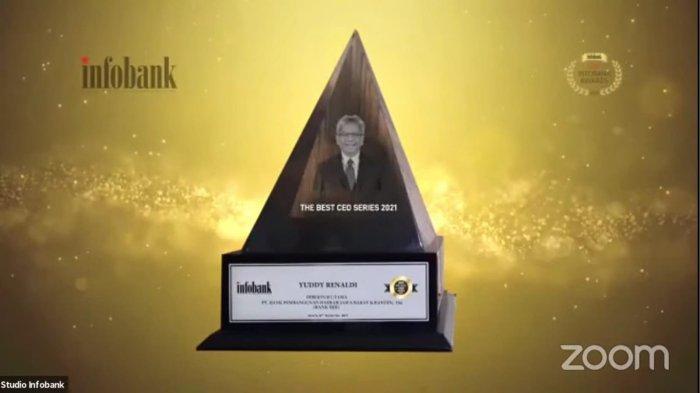 Direktur Utama bank bjb Yuddy Renaldi sebagai INFOBANK THE BEST CEO SERIES 2021
