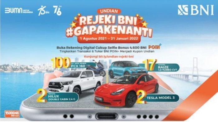 Gelar Program Undian, BNI Siapkan Hadiah Kendaraan Ramah Lingkungan