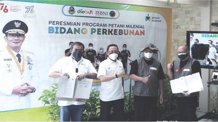 BNI Dukung Program Petani Milenial Jawa Barat