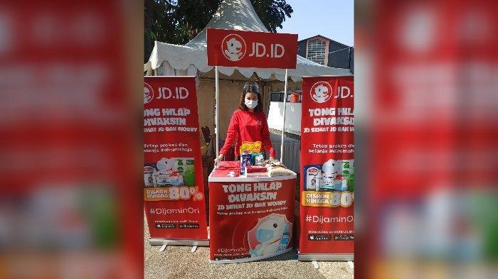 Booth JDID di acara vaksinasi yang diadakan di GOR Saparua.