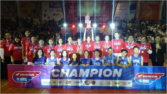 Kalahkan SMA Santo Aloysius, Tim Putri SMA BPK Penabur Cirebon Juara DBL West Java Series