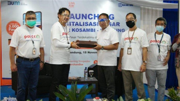 Bri Unit Kosambi Kantor Cabang Bandung Naripan Launching Digitalisasi Pasar Kosambi Tribun Jabar