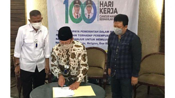 Puncak Cipanas Kawasan Favorit Kawin Kontrak Jadi Tempat Launching Perbup Pencegahan Kawin Kontrak