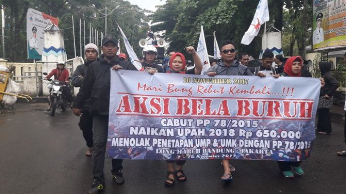 Ridwan Kamil Umumkan Penetapan Upah Minimum Provinsi 2019, DPW FSPMI Jawa Barat Menolak