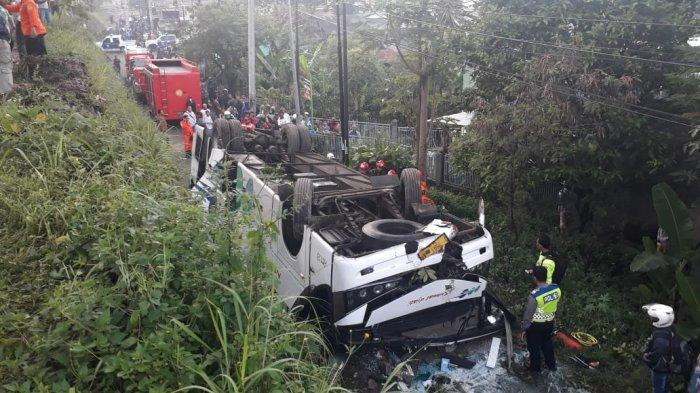 Sopir Bus Kramat Jati yang Terbalik di Cicalengka Ternyata Kabur, Ditangkap di Cimahi