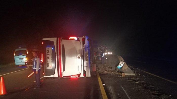 BERIKUT Identitas Korban Luka-luka Kecelakaan Bus Primajasa di Tol Cipularang KM 84.400
