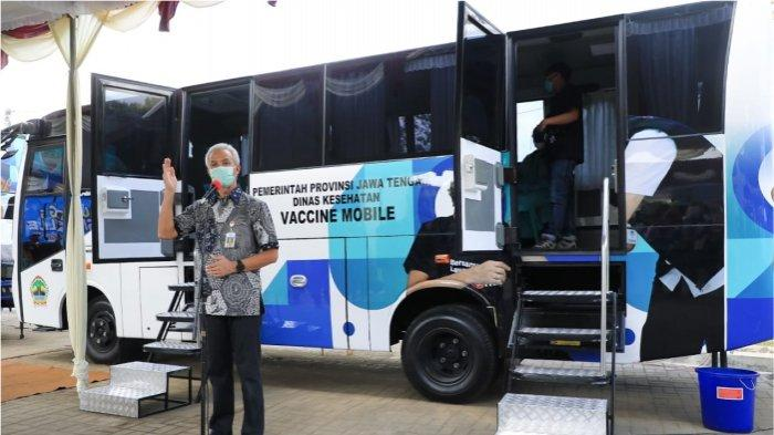 Vaksinasi Covid-19 Jangkau Daerah Terpencil, Gubernur Ganjar Pranowo Resmikan Bus Vaksin