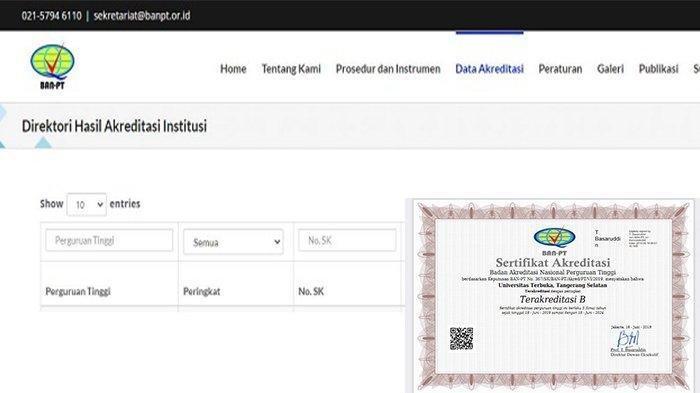 Cara Cek Akreditasi Prodi di BAN-PT, Akses www.banpt.or.id, Yang Daftar CPNS 2021 Wajib Tahu