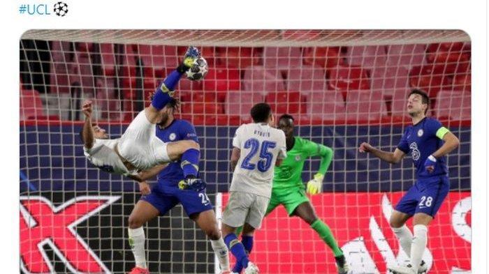 Chelsea dikejutkan oleh gol salto pemain FC Porto, Mehdi Taremi, pada injury time babak kedua dalam laga leg kedua perempat final Liga Champions, Rabu (14/4/2021) dini hari WIB.