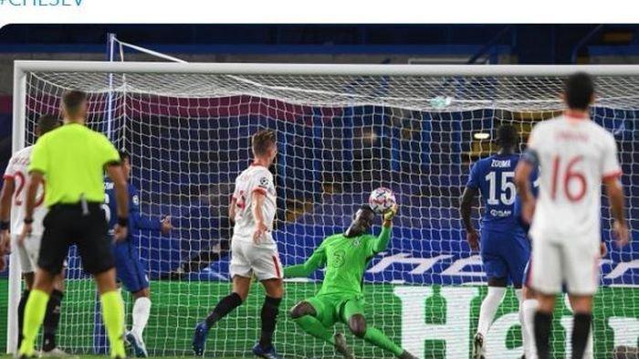 Hasil Liga Champions Chelsea Vs Sevilla 0 0 Edouard Mendy Lakukan Penyelamatan Gemilang Tribun Jabar