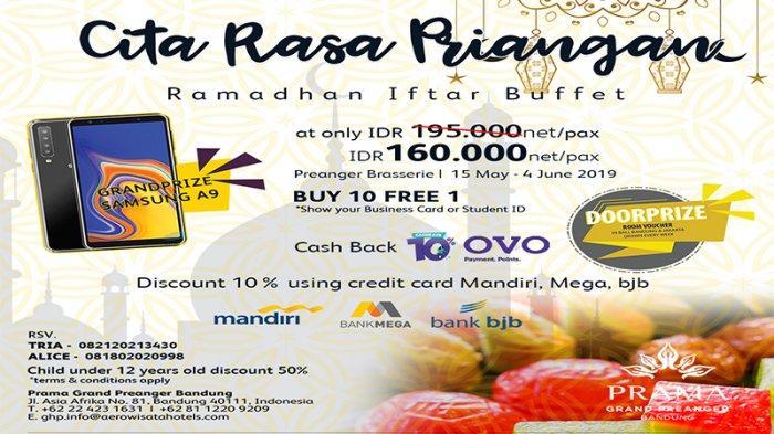 Cita Rasa Priangan Ramadhan Iftar Buffet di Prama Grand Preanger Bandung