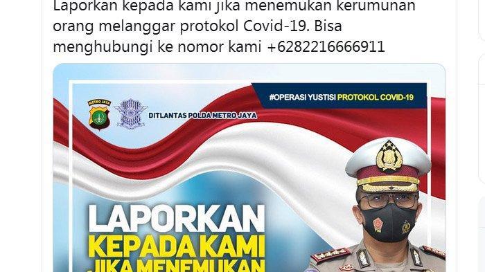 Cuitan Polda Metro Diserbu Netizen, Merisak, Kecewa Polisi Tak Beraksi Lihat Keramaian Habib Rizieq