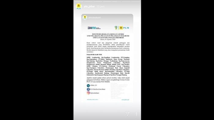 Siap-siap, Hari Ini Akan Ada Pemadaman Listrik di Sukabumi, Ini Daftar Wilayahnya