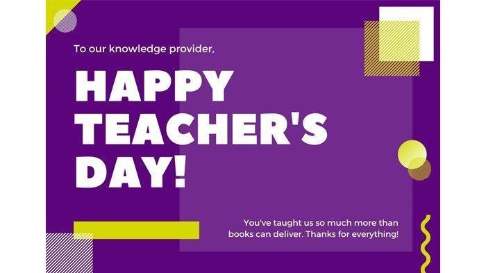 8 Gambar Ucapan Selamat Hari Guru Nasional Termasuk Logo HGN, Bagikan untuk Semangati Para Guru!