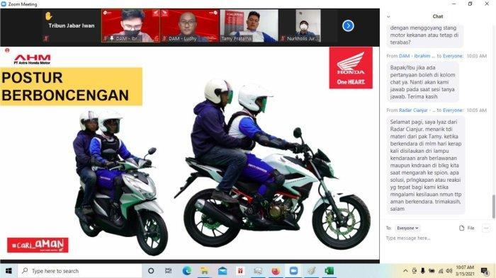 DAM Ajak Jurnalis dan Blogger Pelatihan Safety Riding Secara Virtual
