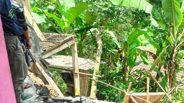 Berdiri di Tanah Labil, Dapur Rumah Warga Sodonghilir Tasikmalaya Ambrol Terbawa Longsor