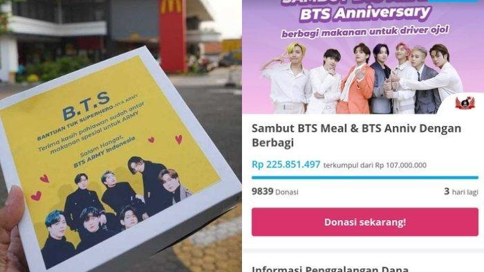 Kekuatan ARMY Indonesia Tak Bisa Diremehkan Berkat BTS Meal, Donasi Ratusan Juta Buat Driver Ojol