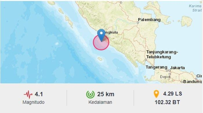 Gempa Melanda Bengkulu Malam Ini, Kekuatannya Sama dengan Gempa di Manokwari Papua
