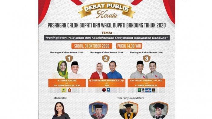 LINK Live Streaming Debat Publik Pertama Pilkada Kabupaten Bandung, Tiga Paslon Siap Tampil Maksimal