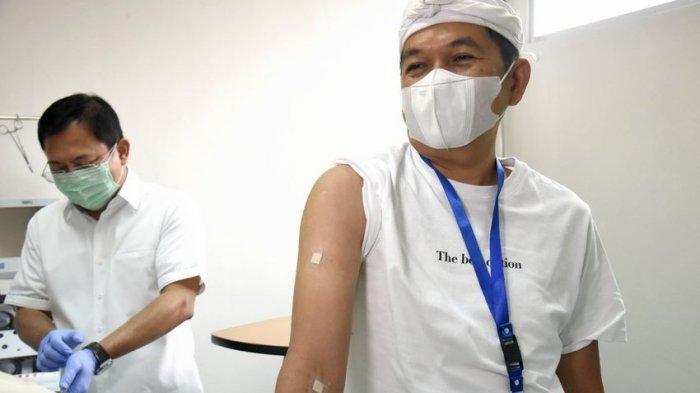 Dedi Mulyadi setelah disuntik Vaksin Nusantara