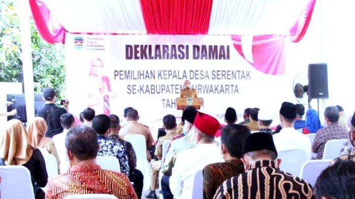 Jelang Pilkades Serentak di Purwakarta, 574 Calon Kades Tandatangani Deklarasi Damai