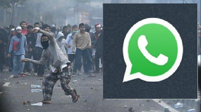 Bikin Grup WhatsApp Futsal Palsu, Remaja Provokasi Demo UU Cipta Kerja, Akhirnya Terciduk Polisi