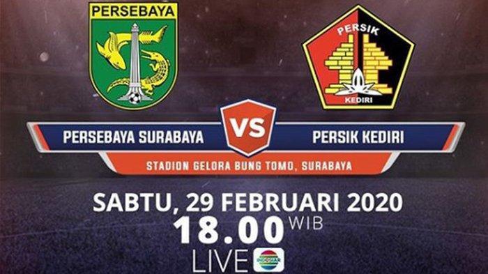 Sesaat Lagi, Live Streaming Indosiar Persebaya Surabaya vs Persik Kediri, Laga Pembuka Liga 1 2020