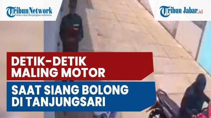 Detik-Detik Maling Motor Saat Siang Bolong, di Tanjungsari Kabupaten Sumedang