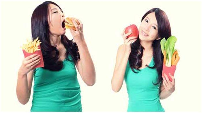 Diet, wanita bawa makanan.