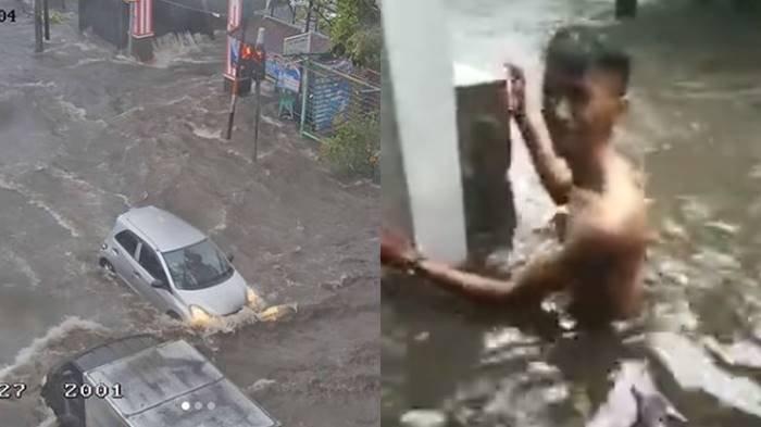 Rumah Ambruk dan 26 Ruas Jalan di Kota Bandung Tergenang Banjir Seusai Hujan Deras Disertai Petir