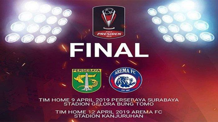 LIVE STREAMING Final Piala Presiden 2019 (Leg 1): Persebaya Surabaya vs Arema FC, Tonton di HP Anda