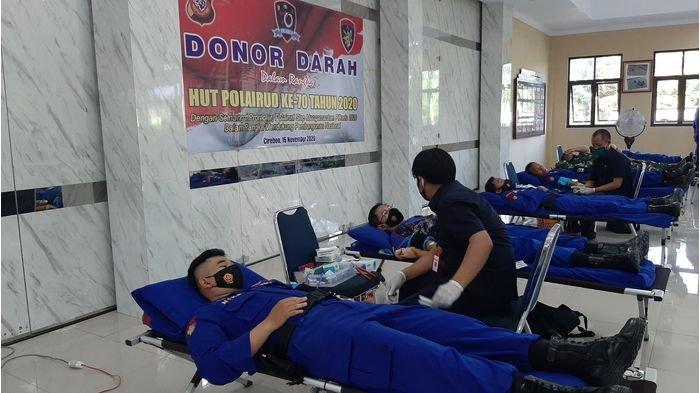 Jelang HUT ke-70, Donor Darah Ditpolairud Polda Jabar Kumpulkan 115 Labu