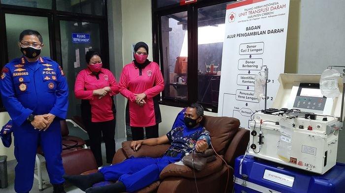 Bantu Penyembuhan Pasien Covid-19, Personel Ditpolairud Polda Jabar Antusias Donor Plasma Konvalesen