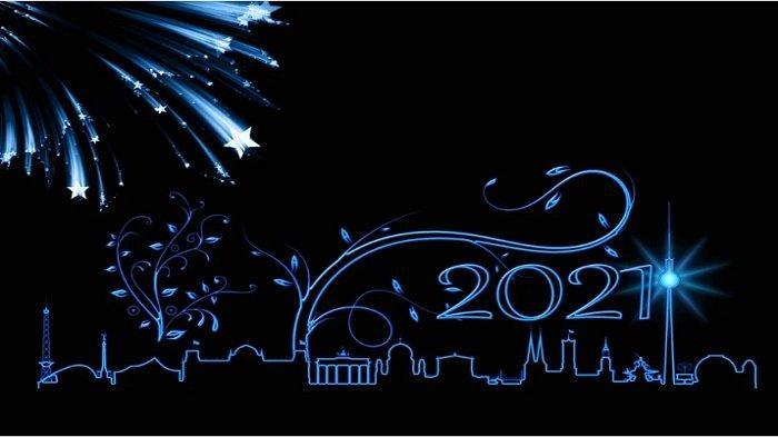 Download gambar bergerak atau GIF Tahun Baru 2021