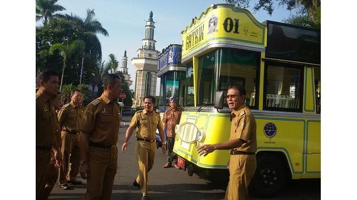 Jaga Semangat Galuh, 2 Bus Gatrik Tiap Hari Keliling Ciamis Kunjungi Tempat Peninggalan Bersejarah
