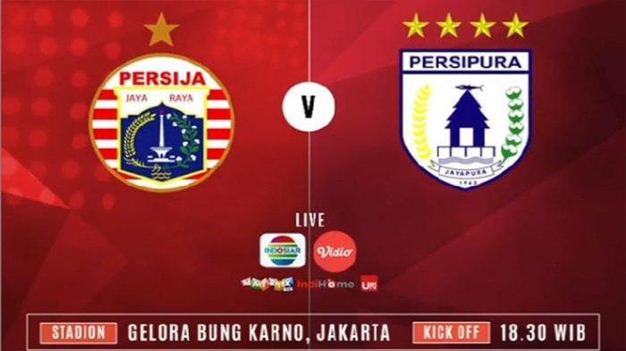 Susunan Pemain Persija Jakarta vs Persipura, Live Streaming Indosiar