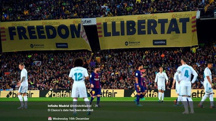 Jelang El Clasico Kontra Real Madrid di Liga Spanyol, Barcelona Punya Kabar Baik