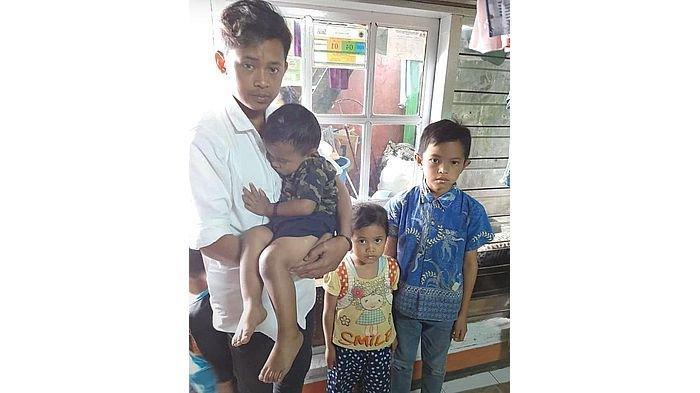 4 Anak Ini Harus Hidup Tanpa Orang Tua, Ibu Meninggal Diduga Digigit Ular, Ayah Wafat Karena Sakit