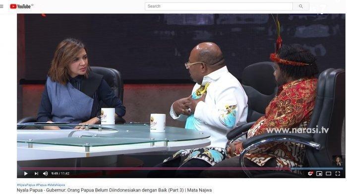 Kepada Najwa Shihab Gubernur Papua Lukas Enembe Sebut Papua Belum Di-Indonesiakan, Begini Maksudnya