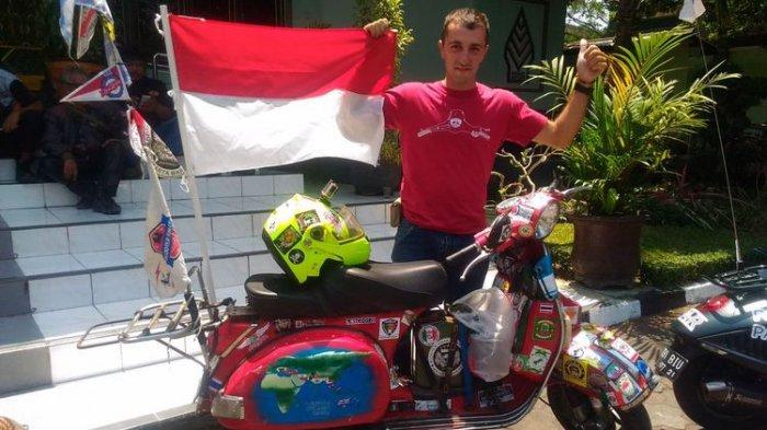 100 Hari Naik Vespa dari Italia ke Yogyakarta, Fabio Salini: Saya Dibilang Gila dan Akan Gagal