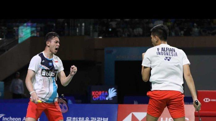 Kata Fajar Alfian/Rian Ardianto Setelah Dikalahkan Ganda Taiwan di Piala Thomas 2020