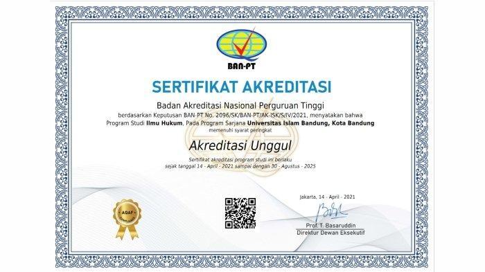 Fakultas Hukum Unisba Raih 'Akreditasi Unggul'