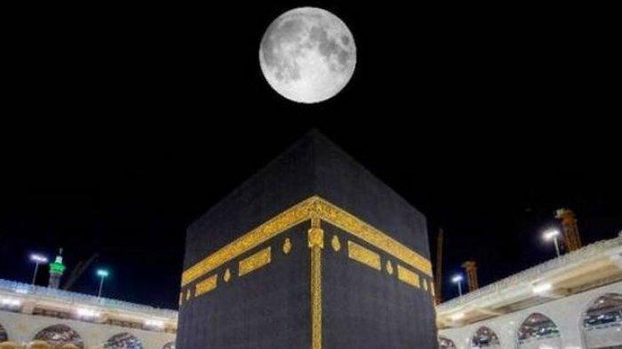Bulan Purnama Sejajar Tepat di Atas Ka'bah, Akan Terlihat Sepanjang Malam hingga Matahari Terbit
