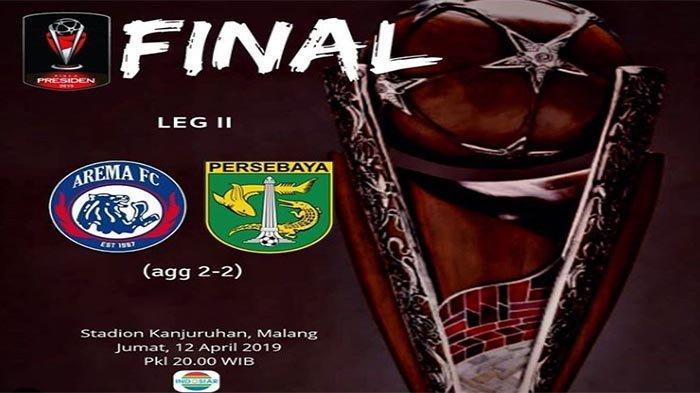 SEDANG BERLANGSUNG Live Streaming Final Piala Presdien, Arema FC vs Persebaya, Arema Terus Menekan