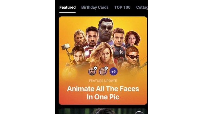 Fitur Raface App untuk bikin foto bernyanyi.