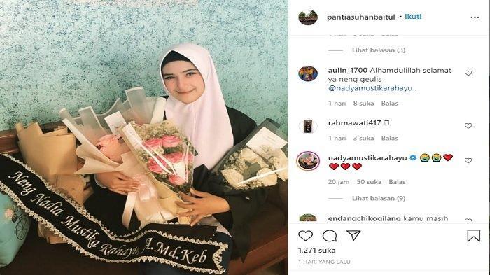 foto kelulusan Nadya Mustika diposting Panti Asuhan Baitul Arief