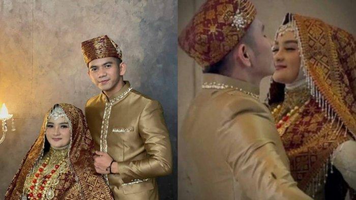 foto prewedding Ridho DA dan Syifa pakai baju adat Minang