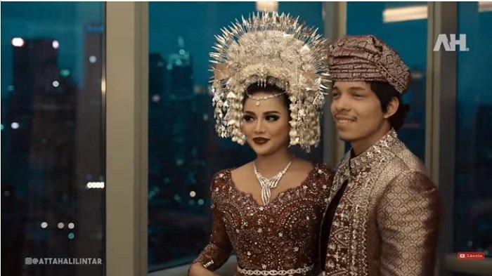 Foto syukuran penrikahan Aurel Hermansyah dan Atta Halilintar.